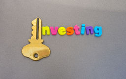 Investimento: a chave. Foto de Stock