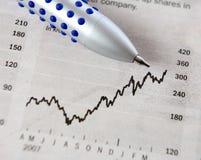 Investimento che va in su Fotografie Stock