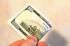 Investimento, concetto di donazione e finanziario, o dono, concetto di corruzione Ringraziamento di servizio di prepagamento fotografia stock
