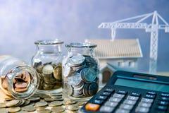 Investimento da promoção imobiliária ou da propriedade imagens de stock