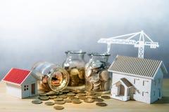Investimento da promoção imobiliária ou da propriedade imagem de stock