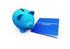 Investimento de banco Piggy Fotografia de Stock