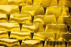 Investimento dei mattoni dell'oro Fotografie Stock Libere da Diritti