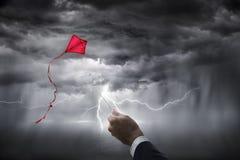 Investimento di rischio d'impresa di aspirazioni di incertezza Fotografia Stock