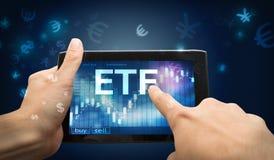 Investimento do ETF imagens de stock