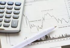 Investimento do mercado de valores de ação Fotos de Stock