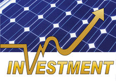 Investimento do painel solar Foto de Stock