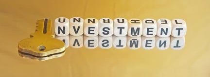 Investimento dorato Fotografie Stock