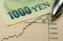 Investimento dos ienes Foto de Stock Royalty Free