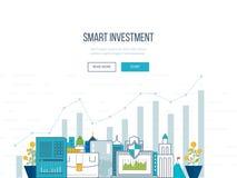 Investimento esperto, finança, analítica dos dados do mercado, gestão estratégica, planeamento financeiro Fotografia de Stock Royalty Free