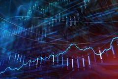 Investimento, estoque e papel de parede do lucro Fotos de Stock Royalty Free