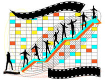 Investimento feliz, sucesso de negócio Ilustração Stock