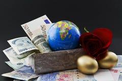 Investimento global, diversificação bem sucedida Foto de Stock