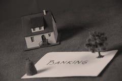Investimento in immobili, attività bancarie della casa Immagine Stock