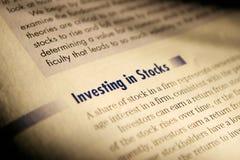 Investimento nos estoques. Imagens de Stock Royalty Free