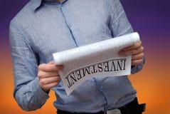 Investimento. notizie finanziarie Fotografia Stock