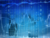 Investimento online immagine stock