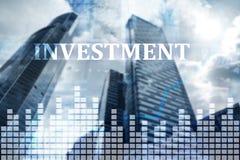 Investimento, ROI, conceito do mercado financeiro Investimento, ROI, conceito do mercado financeiro Investimento, conceito do mer Imagens de Stock