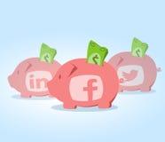 Investimento social dos meios Fotos de Stock Royalty Free