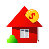 Investing in home purchase sign Royalty Free Stock Images
