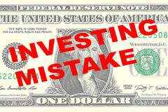 Investing Mistake concept Stock Photo