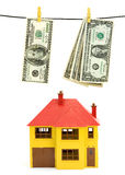 Investing money. Money investment in realestate concept stock photo