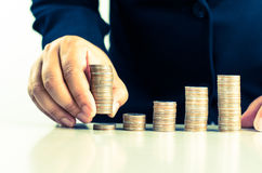 Investing Money Financial Business Growth concept Stock Photos