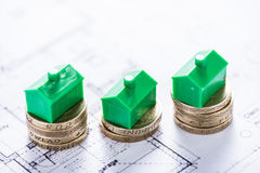 Investing money in new property. And housing development Royalty Free Stock Photography
