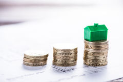 Investing money in new property Stock Photo