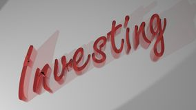 INVESTING transparent red Stock Photos