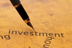 Investissement Photo stock
