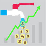 Investissement, argent, croissance, icône Photographie stock libre de droits