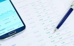 Investissement de finances Images libres de droits