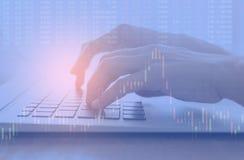 Investissement de Fintech financier Photographie stock