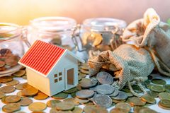 Investissement de propriété Concept d'argent d'économie image stock