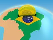 Investissement du Brésil Photographie stock libre de droits