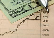 Investissement du dollar Photos libres de droits