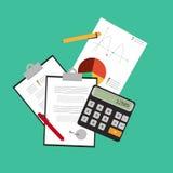 Investissement et finances personnelles, crédit et budgétisation illustration de vecteur