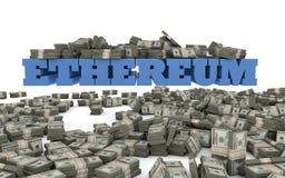 Investissement et spéculation d'Ethereum Images libres de droits