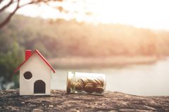 Investissement immobilier des finances photo libre de droits