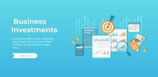 Investissement productif, planification financière, stratégie, gestion Diagram le diagramme de graphique sur des documents, plan  illustration de vecteur