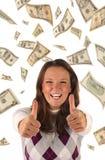 Investissement réussi (billets de banque des dollars) Image libre de droits