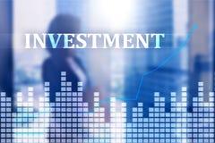 Investissement, ROI, concept de marché financier illustration libre de droits