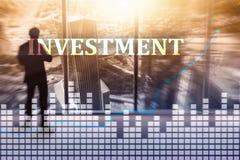 Investissement, ROI, concept de marché financier illustration stock