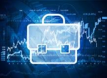 Investissement sur le marché boursier Illustration Stock
