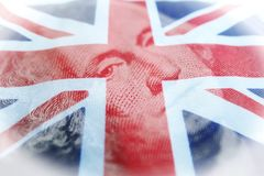 Investissements à l'étranger de George Washington With British Flag Representing de haute qualité photographie stock