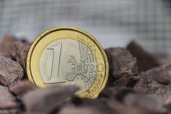 Investissements d'euro pièce de monnaie Photographie stock libre de droits