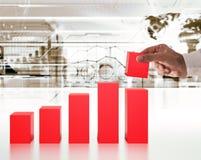 investissements de croissance de soutien du rendu 3D Image stock