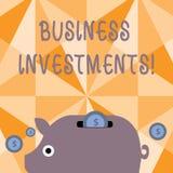Investissements productifs d'apparence de signe des textes Acte conceptuel de photo d'argent ou de capital de engagement à un eff illustration de vecteur