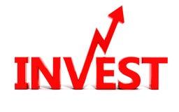 Investissez Image libre de droits